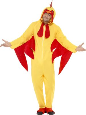 Chicken Costume Hooded All in One Costume Smiffys 27857