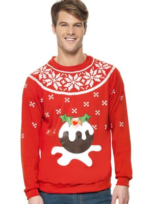 Smiffy's Christmas Pudding Light Up Jumper 33804