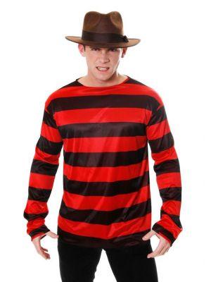 Freddy Krueger Inspired Striped Jumper Red and Black U36 245