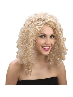 Curly Blonde Wig EW-8014