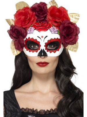 Day of the Dead Rose Eyemask Red 44883