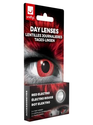 Electro Red Contact Lenses 1 Day