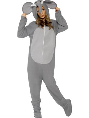 Elephant Costume All in One With Hood Smiffys 27827