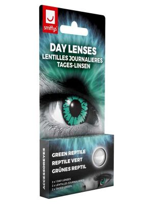 Green Reptile Contact Lenses 1 Day