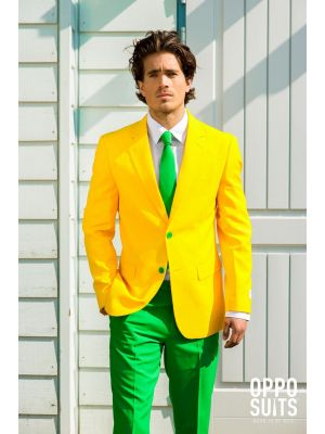 OppoSuits Green and Gold Fancy Dress Suit