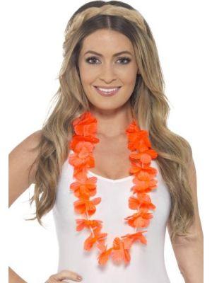 Hawaiian Lei Neon Orange 45559