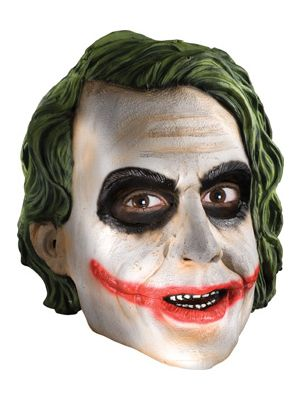 Joker Mask Vinyl 3/4 LIcensed 4526