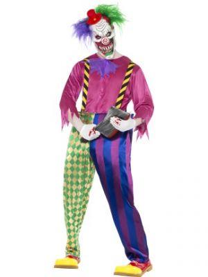 Kolorful Killer Klown Costume  Multi-coloured 21623