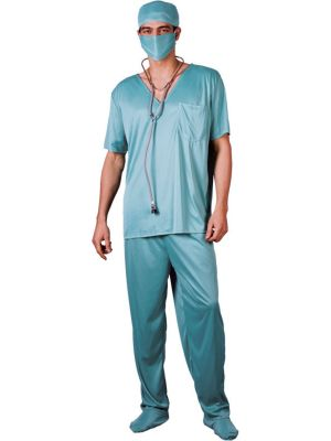 ER Surgeon Scrubs Costume EM-3092