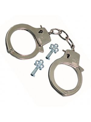 Metal Handcuffs Fancy Dress Item
