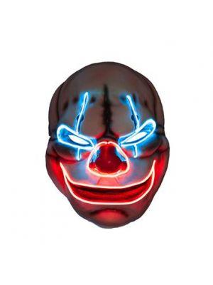 Purge E.L LIGHT UP Clown Mask - Multi Colour