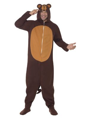 Monkey Costume Hooded All In One 23633 Smiffys