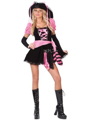 Sexy Pink Punk Pirate Costume 3460B