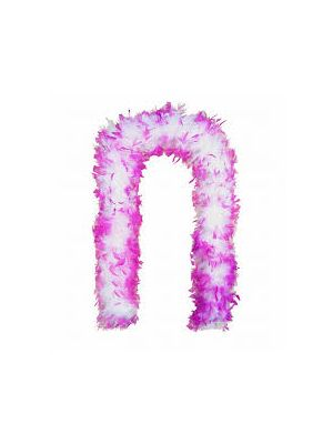 Feather Boa Pink & White 150cm U07186