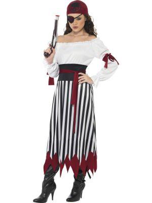 Pirate Lady Costume, Black & White 20803 Smiffys