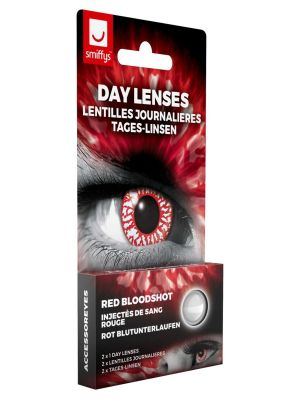 Red Bloodshot Contact Lenses