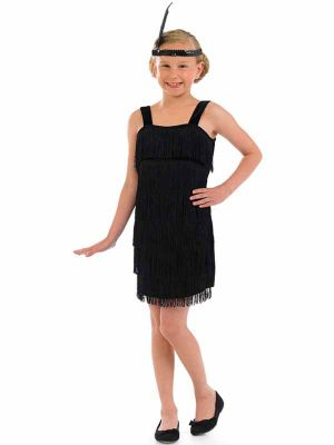 Black Flapper Girl Costume U24 059