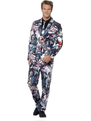 Smiffy's Zombie Suit Stand Out Suits Fancy Dress 45563