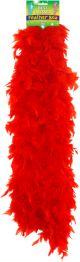 Feather Boa Red 150cm U07092