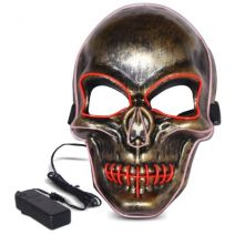 Purge Skeleton Light Up LED Mask - Red LED Colour