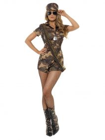 Army Girl Sexy Costume Smiffys 28864