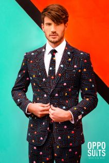 OppoSuits PAC MAN Official Licensed Fancy Dress Suit 0045