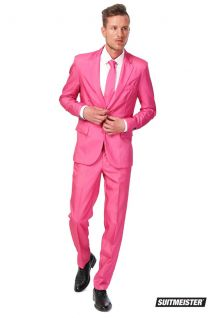 Opposuits Solid Pink Suitmeister Fancy Dress Suit