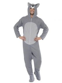 Wolf Costume Hooded All in One Smiffys 27858