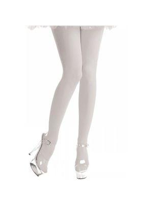 White Tights 40 Denier Normal Length Fancy Dress
