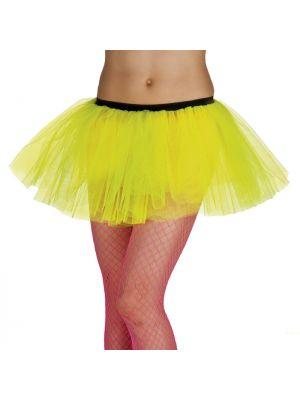 Tutu Neon Yellow Fancy Dress 01702