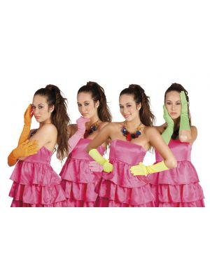 Neon Orange Nice Long Elbow Gloves 03095
