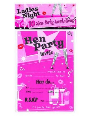 10 Hen Party Invitations 015-HPI