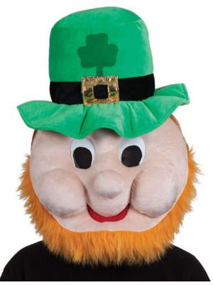 Plush Head St Patricks Leprechuan Head 1297