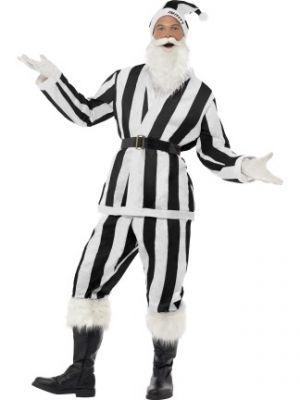 Smiffy's Supporters Santa Costume   Black & White 22669