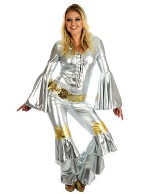 70's Dancing Queen Silver Adult 3185