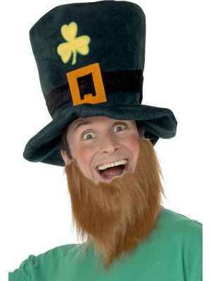 Leprechaun Hat  Green with Shamrocks 25241