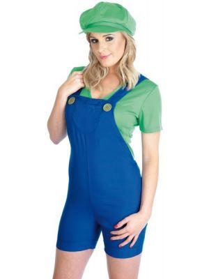 Plumber's Mate Luigi Girl Costume 2610