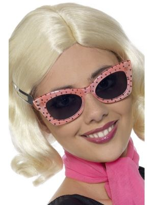 50s Style Polkadot Ladies Specs Smiffys Fancy Dress 31146