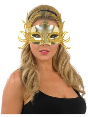 Gold and Silver Eye Mask