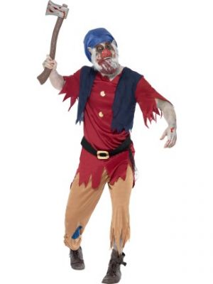 Zombie Dwarf Costume Smiffys Fancy Dress 40061