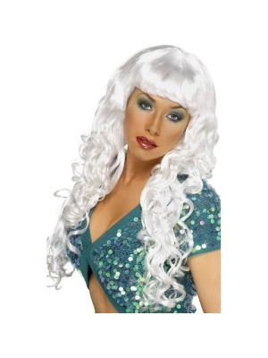 Siren Smiffys White Wig Fancy Dress Sulemans