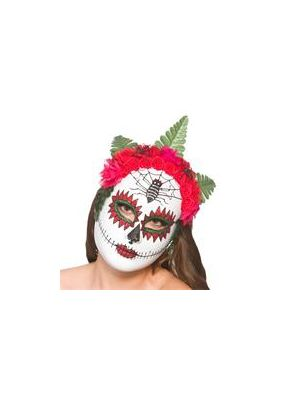 Day Of The Dead Mask w/ Flowers 9924