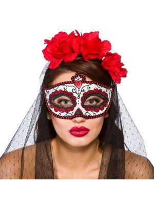 Day Of The Dead Eye Mask 9925