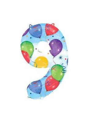 Number 9 Balloon Foil Balloon 28261