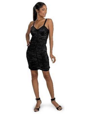 Black Panne Coffin Dress 3848
