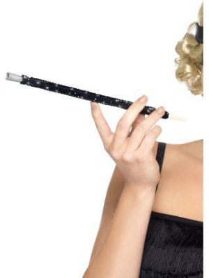 Black Sequinned Cigarette Holder 26284