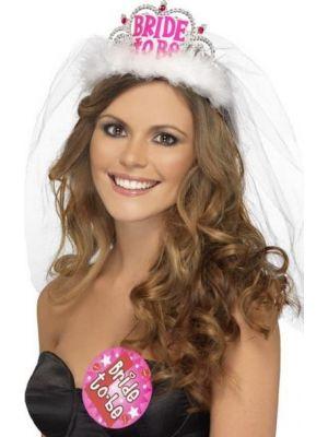 Bride To Be Tiara With Veil-31913