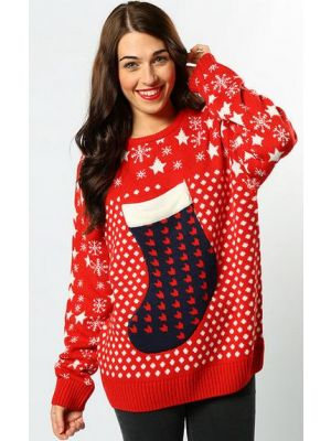Christmas Stocking Rdwn Jumper CS424