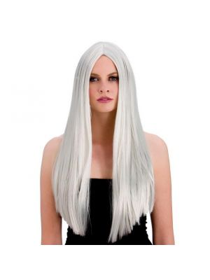 Classic Long Silver Wig Wicked EW-8003
