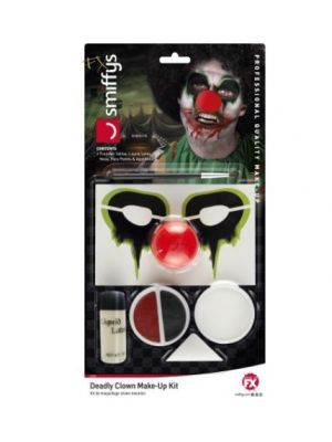 Deadly Clown Make-up kit 44739